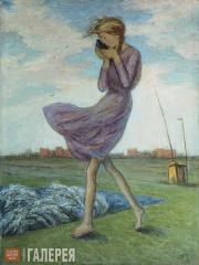 Chernyshev Nikolai. Windy Day in the Outskirts. 1928–1972