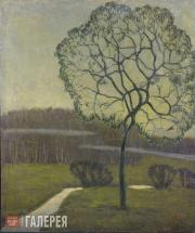 Chernyshev Nikolai. Twilight (A Tree). 1911