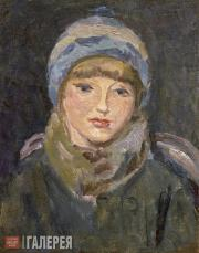 Chernyshev Nikolai. Girl in a Blue Cap. 1928