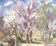 Ufimtsev Viktor. Trees in Blossom. 1939