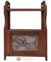 Шкафчик, украшенный панно работы М.В. Якунчиковой-Вебер. 1899