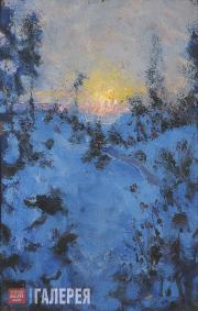 Repin Yury. Sunrise in the Forest. Sketch. 1920s-1930s