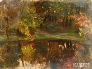 Korovin Konstantin. Landscape with a Little Pond