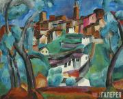 Vasily ROZHDESTVENSKY. View of Siena. 1912