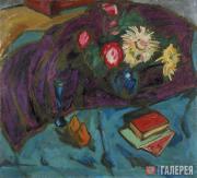 Куприн Александр. Цветы на фоне фиолетовой драпировки. 1910