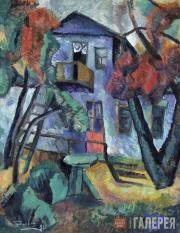 Tyulkin Alexander. A Small Courtyard at a Country House. 1919
