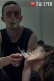 """Eliza Douglas and Mickey Mahar in Anne Imhof's """"Angst"""""""