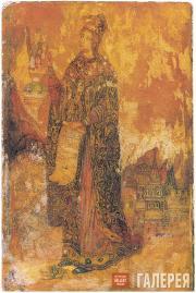 Filonov Pavel. Saint Catherine. Icon. 1908–1910