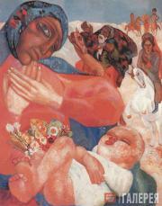 Filonov Pavel. The Adoration of the Magi. 1913
