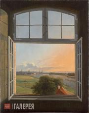 Faber Karl Gottfried Traugott. A View of Dresden. 1824