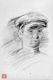 Falk Robert. Self-portrait with a Cap. 1924