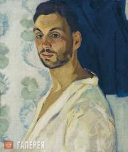Falk Robert. Self-portrait on Blue Background. 1909