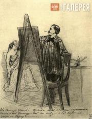 Fedotov Pavel. In the Artist's Studio. 1848-1849
