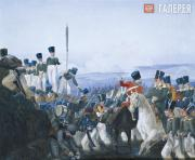 Fedotov Pavel. Fording during the Army Manoeuvres. 1844