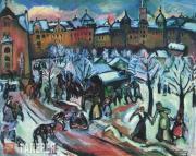 Achille Emile Othon FRIESZ. Snow in Munich. 1909