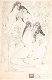 Купальщицы. 1921