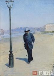 Pokhitonov Ivan. Pyotr Ivanovich Shchukin Walking. 1900s