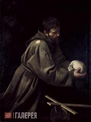 Caravaggio (Michelangelo Merisi da Caravaggio). St. Francis. 1606