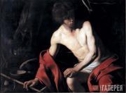Caravaggio (Michelangelo Merisi da Caravaggio). John the Baptist. 1603-1604
