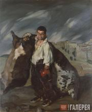 Zuloaga Ignacio. The Dwarf Grigorio, the Wine-skin Maker. 1908