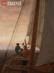 Friedrich Caspar David. On a Sailing Ship. Between 1818 and 1820