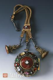 Pocket Watch with Chain and Signets from the Carnelian Garniture