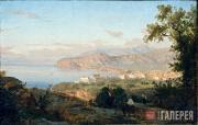 Gaetano Giacinto Gigante. View of the Waterfront in Posillipo. c. 1844