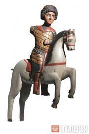 Неизвестный художник. Св. Георгий на коне. 1460-е. Москва