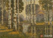 Purvītis Vilhelms. A Pond with Birch Trees. c. 1910