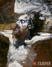 Ghe Nikolai. Head of the Crucified Jesus. 1893
