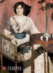 Golovin Alexander. Portrait of Valentina Kuza (?). 1900s