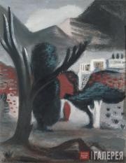 Ростислав БАРТО. Пейзаж с деревом. 1933