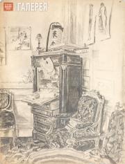 Якунчикова Мария. Интерьер. Конец 1880-х