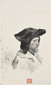 Якунчикова Мария. Мужчина в венецианском костюме. 1887