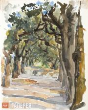 Polenova Yelena. Avenue in the Monte Pincio Park. 1895