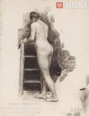 Якунчикова Мария. Обнаженная натурщица со спины. 1889