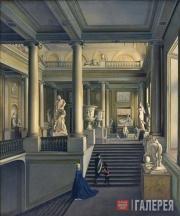 И.А.ИВАНОВ. Вид парадной лестницы Академии художеств. 1830