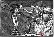 Edward Burne-Jones and William Morris. Charon's Fee