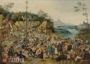 Брейгель Питер (Младший). Майское дерево («Карнавал Святого Георгия с танцами во
