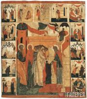 Неизвестный художник. Введение во храм с житием Богоматери, Иоакима и Анны. XVI