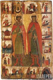 Неизвестный художник. Борис и Глеб с житием. Вторая половина XIV века