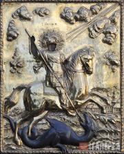 Неизвестный художник. Икона «Св. Георгий Победоносец». 1834