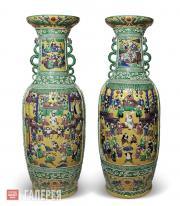 Парные вазы. Китай. Середина XIX века