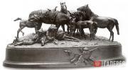 Киргизский косяк на отдыхе. 1880