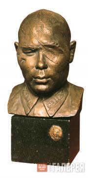 В.И.МУХИНА. Портрет героя Советского Союза полковника Б.А.Юсупова. 1942
