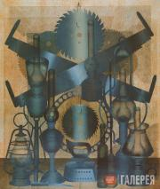 Messerer Boris. Large Still Life with Two-handed Saw #3. 1999