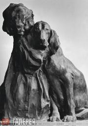 Трубецкой Паоло (Павел Петрович). Девочка с собакой. Друзья. 1897