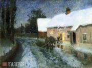 Thaulow Fritz. Night. 2nd half of the 1880s