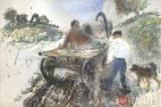 Slepyshev Anatoly. A Cart with a White Coachman. 1998