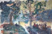 Slepyshev Anatoly. A Gathering on a Hillside. Bois de Boulogne. 1998